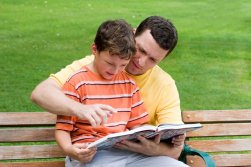 father-son-reading-
