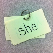 sight words on ring